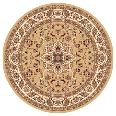 7 X 7 Area Rugs Kas Rugs Classic Medallion Beige 7 Ft 7 In X 7 Ft 7 In Area Rug Cam732877x77 The