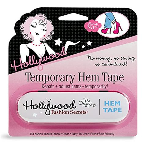 double stick no iron no sew fashion hem tape for denim hollywood fashion secrets temporary hem tape 18 fabric