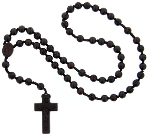 jujube wood 5 decade rose bead rosary 10mm