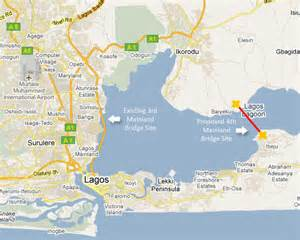 Lagos Africa Map by Lagos City Map Google Map Render Of Lagos State Showing