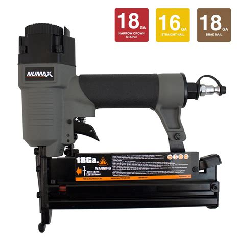 home depot upholstery stapler numax pneumatic 18 and 16 gauge 3 in 1 nailer and stapler