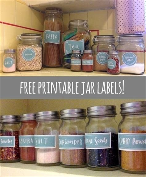 kitchen spice jar pantry organizing labels worldlabel blog free printable jar labels crafty pinterest