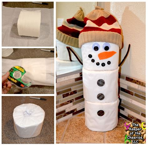 Toliet Paper Crafts - toilet paper snowman craft