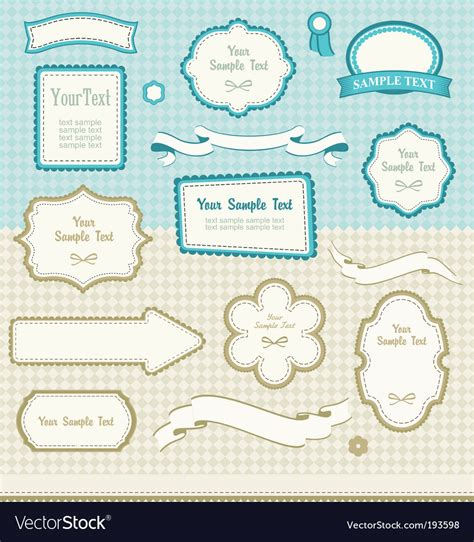 set of vector graphic elements royalty free stock photos set of retro design elements royalty free vector image