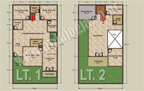 desain denah rumah  lantai  atas lahan   blognya wong sipil karo arsitek