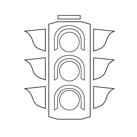 traffic light coloring page template coloring pages