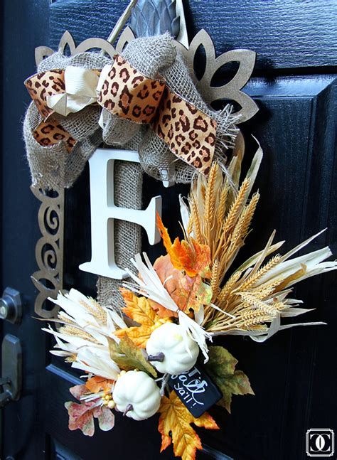 decorating ideas for wire wreaths frames easy diy fall wreath home decor style your senses
