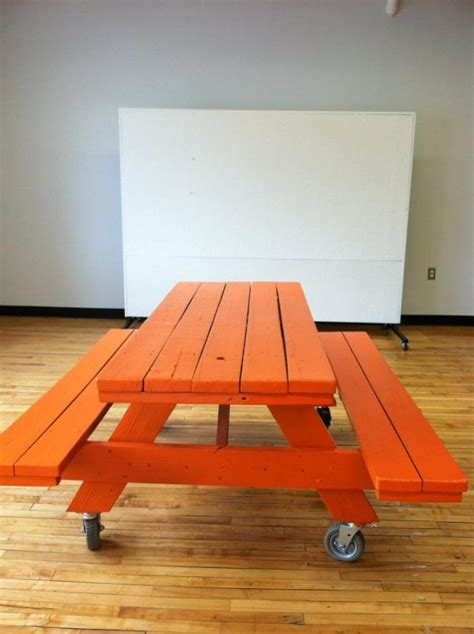 Diy Conference Table Embrace The Relaxed Style Of Indoor Picnic Tables