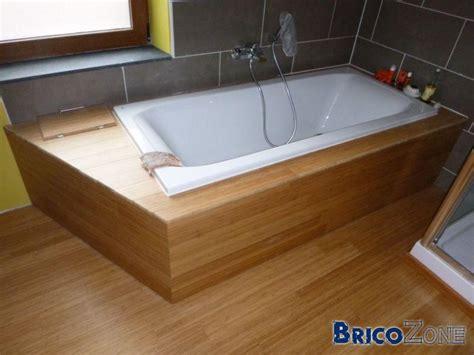 coller baignoire sur sol