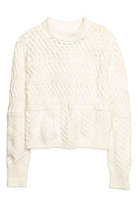 pattern knit sweater h m pattern knit sweater white sale h m us