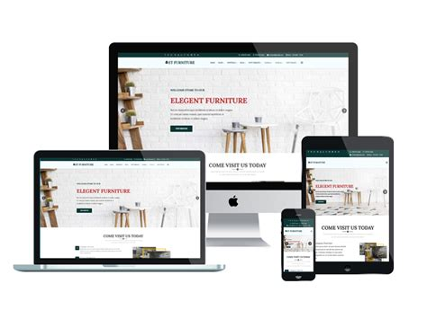 Responsive Templates For Website by Et Furniture Free Responsive Furniture Website Templates