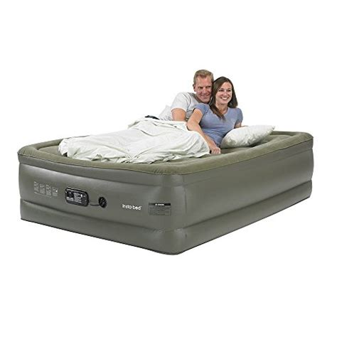 insta bed raised air mattress insta bed queen raised air mattress with sure grip bottom