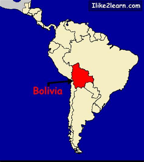 bolivia on the world map bolivia map