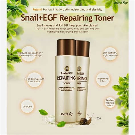 Secret Key Snail Egf Repairing Emulsion 150ml Limited hesti s journal review secret key snail egf