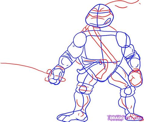 How To Draw Tmnt Step By Step