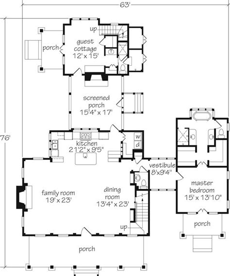 southern living cottage floor plans cottage of the year plan 593 southern living house plans fireplaces the guest