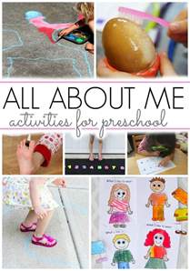 Favors For Preschoolers by Activities For All About Me Theme Pre K Pages