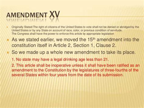 15th amendment section 2 constitution edits