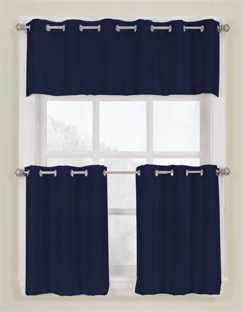 Navy And Taupe Curtains S Lichtenberg Montego Grommet Kitchen Curtains Taupe