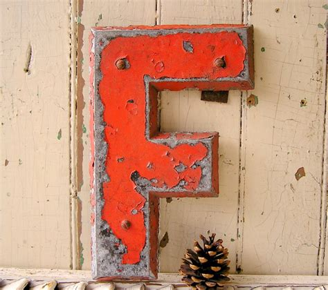 metal letter vintage industrial metal letters letter f sign letter other