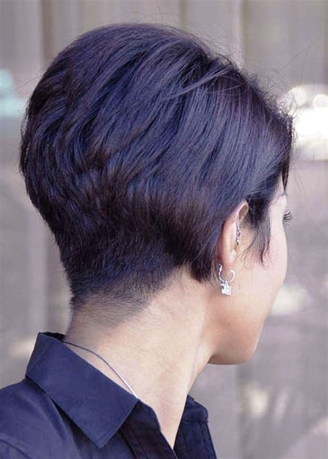 black women with stacked bob short wedge hairstyles back view stacked bob haircut