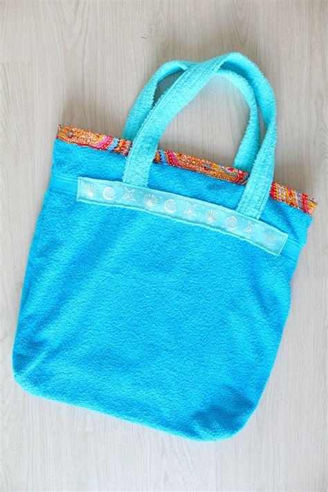 towel tote bag pattern free tutorial towel beach bag by petro