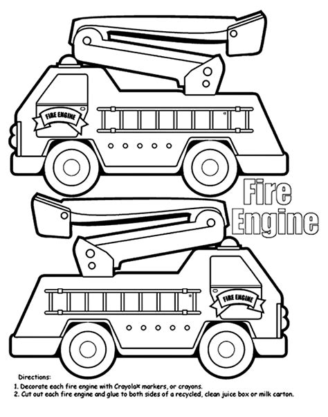 fire truck coloring pages