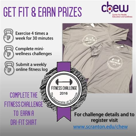 prizes for fitness challenges fitness challenge chew student formation and cus