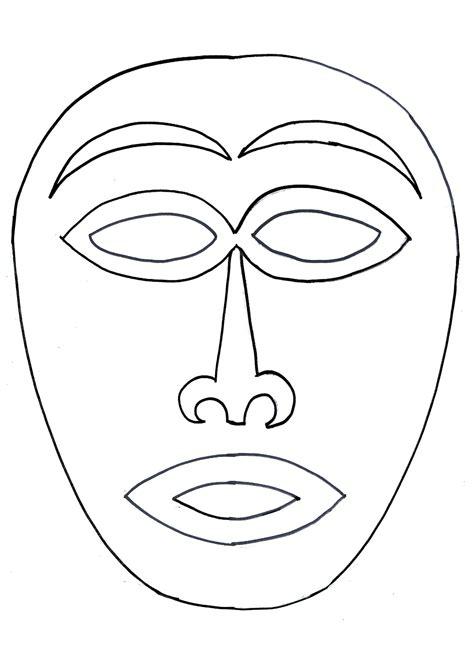Masque Africain Photo De 8 1 Activit 233 S Sur Le Th 232 Me De Coloriage Masques Africains L