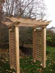wooden cedar garden arbor by new woodworks