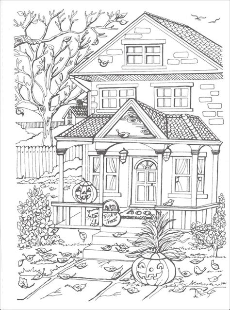 autumn scene coloring pages autumn scenes coloring book creative haven 067469