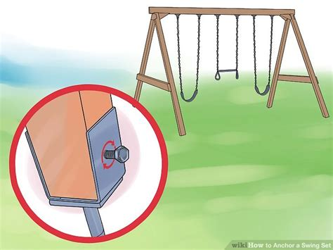 swing set leg anchors 3 ways to anchor a swing set wikihow