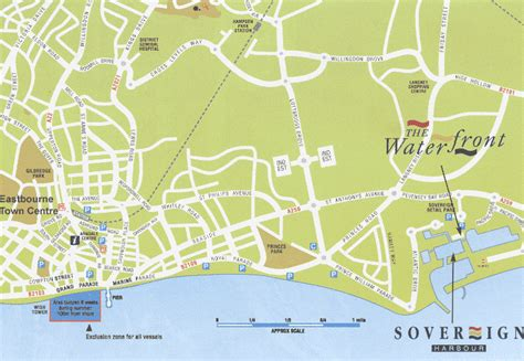 printable map eastbourne how to get there dive125