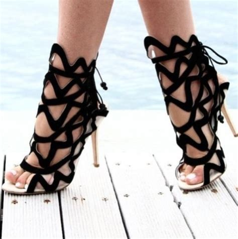 sandals high heels shoes gladiators gladiators black heels high heels