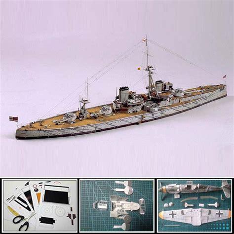 Battleship Papercraft - 3d paper model ship battleship dreadnought 1 250