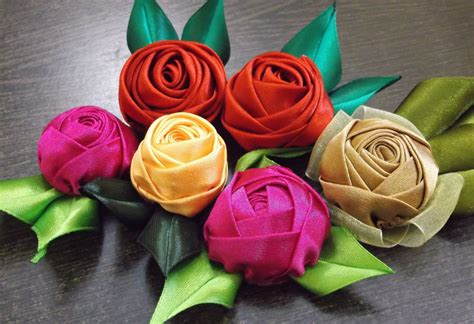 How To Make Handmade Roses - d i y handmade satin tutorial