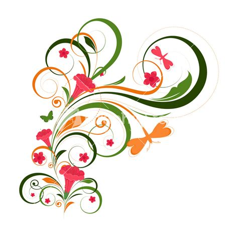 flower design eps floral vector graphic clipart best