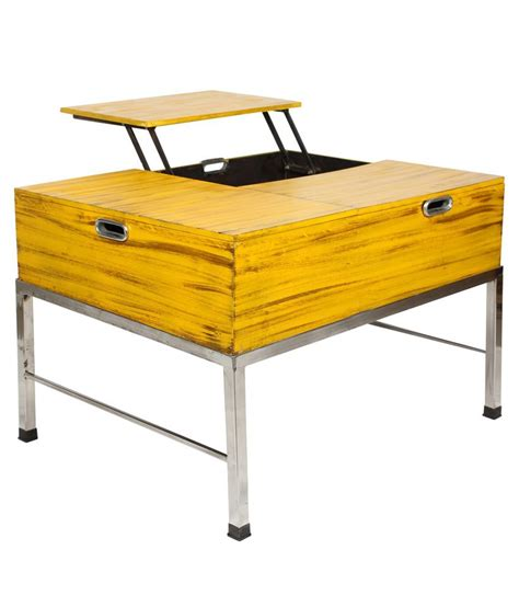 Yellow Coffee Tables Adjustable Coffee Table In Yellow Buy At Best Price In India On Snapdeal