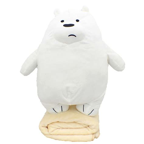 We Bare Bears Pillow we bare bears plush pillow with blanket 11street malaysia stuffed characters