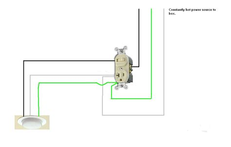 combination switch outlet wiring diagram