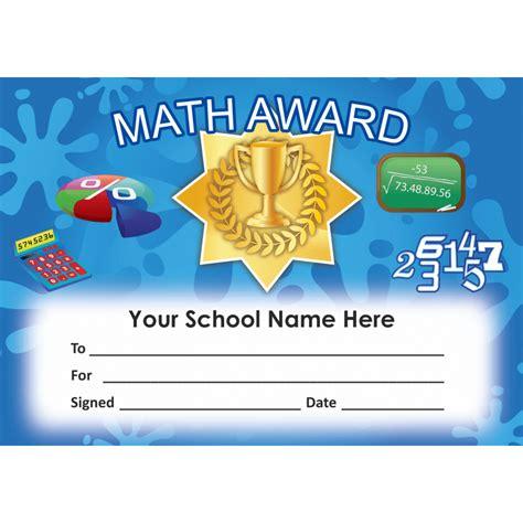 math award template math certificate set 4 school stickers for teachers