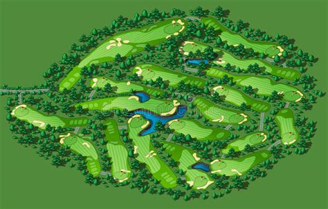 plant layout design course golf course layout stock vector illustration of design