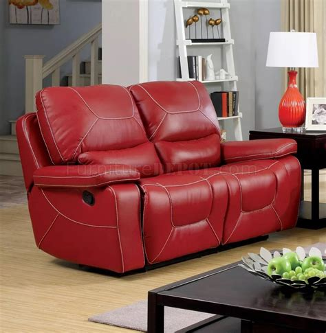 red leather loveseat recliner newburg reclining sofa cm6814rd in red leather match w options