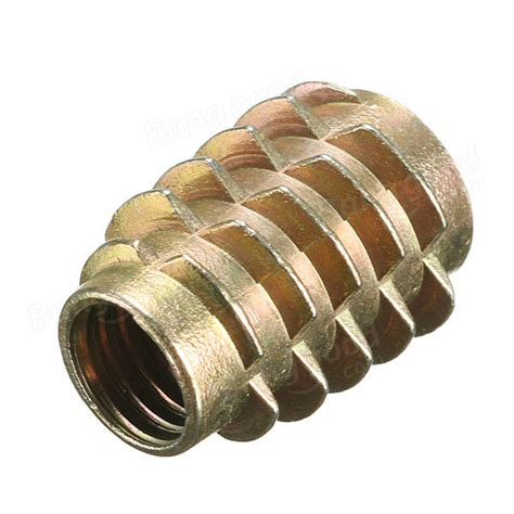 5pcs M8x20mm Hex Drive Screw In Threaded Insert For Wood