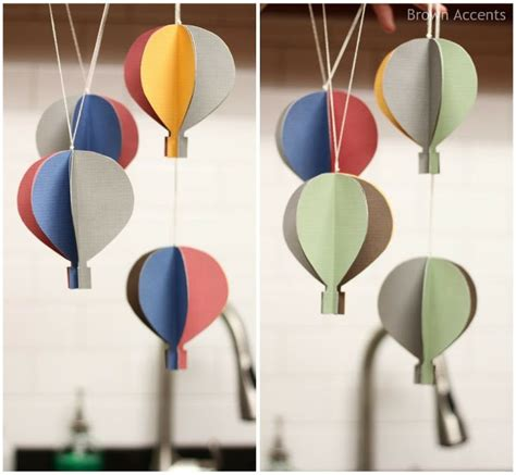 tutorial origami balloon hot air balloon mobile diy oh the places you will go