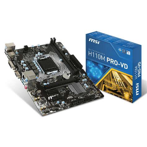 Msi H110m Pro Vd msi h110m pro vd