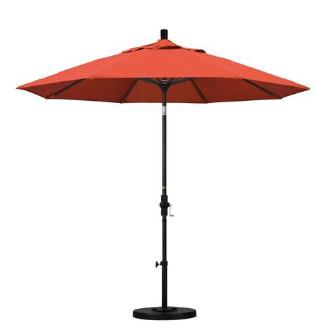 Olefin Patio Umbrella California Umbrella 9 Ft Aluminum Collar Tilt Patio Umbrella In Sunset Olefin Gscu908117 F27