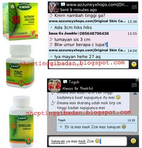 Peninggi Badan Herbal Tiens Kalsium Nhcp Dan Zinc Paket 10 Hari kalsium peninggi badan terbaik dunia nhcp nutrient high calcium powder peninggi badan nhcp