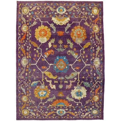 Purple Area Rugs Contemporary Contemporary Turkish Oushak Rug With Modern Style Purple Oushak Area Rug For Sale At 1stdibs