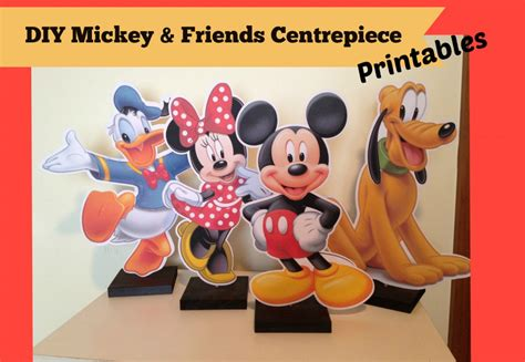 how to make mickey mouse clubhouse charactor centrepieces